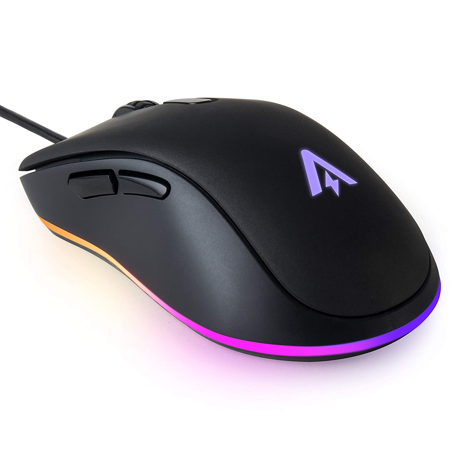 Anker Gaming Mouse with 6Dpi Levels 800, 1600, 2400, 3200, 4800, and 6400 , 1000 Hz Polling Rate, Programmable Buttons, Ergonomic USB Computer Mouse, RGB Gamer Desktop Laptop PC Gaming Mouse