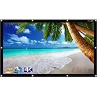 ELCOR Eyelets Projector screens 100 Inch-Diagonal, 5ft.Height x 7ft.width In 4:03 Aspect Ratio, Support HD,3D & 4K Technology