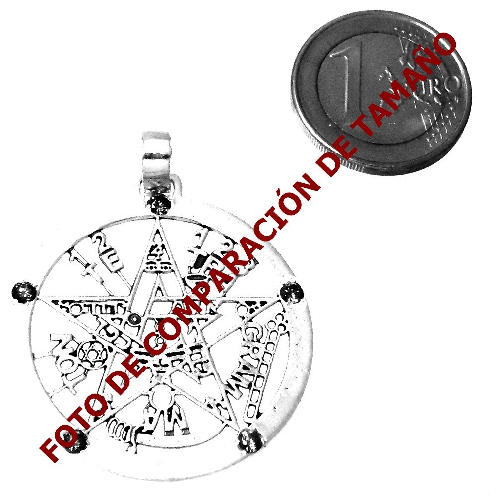 Colgante plata ley 925m tetragramat/ón 37mm amuleto AA9822