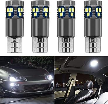 per auto KaTur 2 lampadine LED W5W T10 3014 SMD Canbus per auto per interni ed esterni
