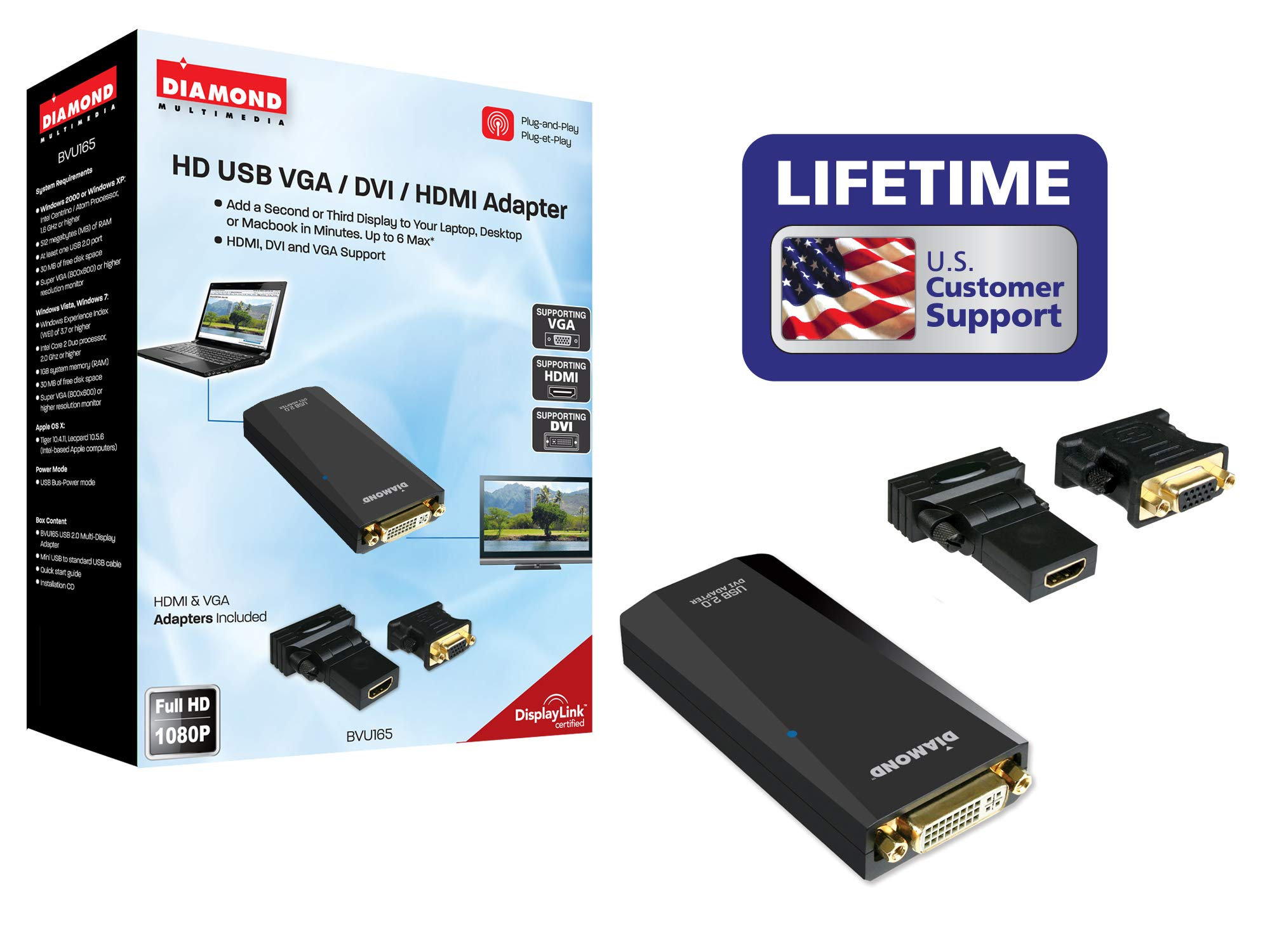 Diamond Multimedia USB 2.0 a VGA/DVI/HDMI Video Graphics Ada