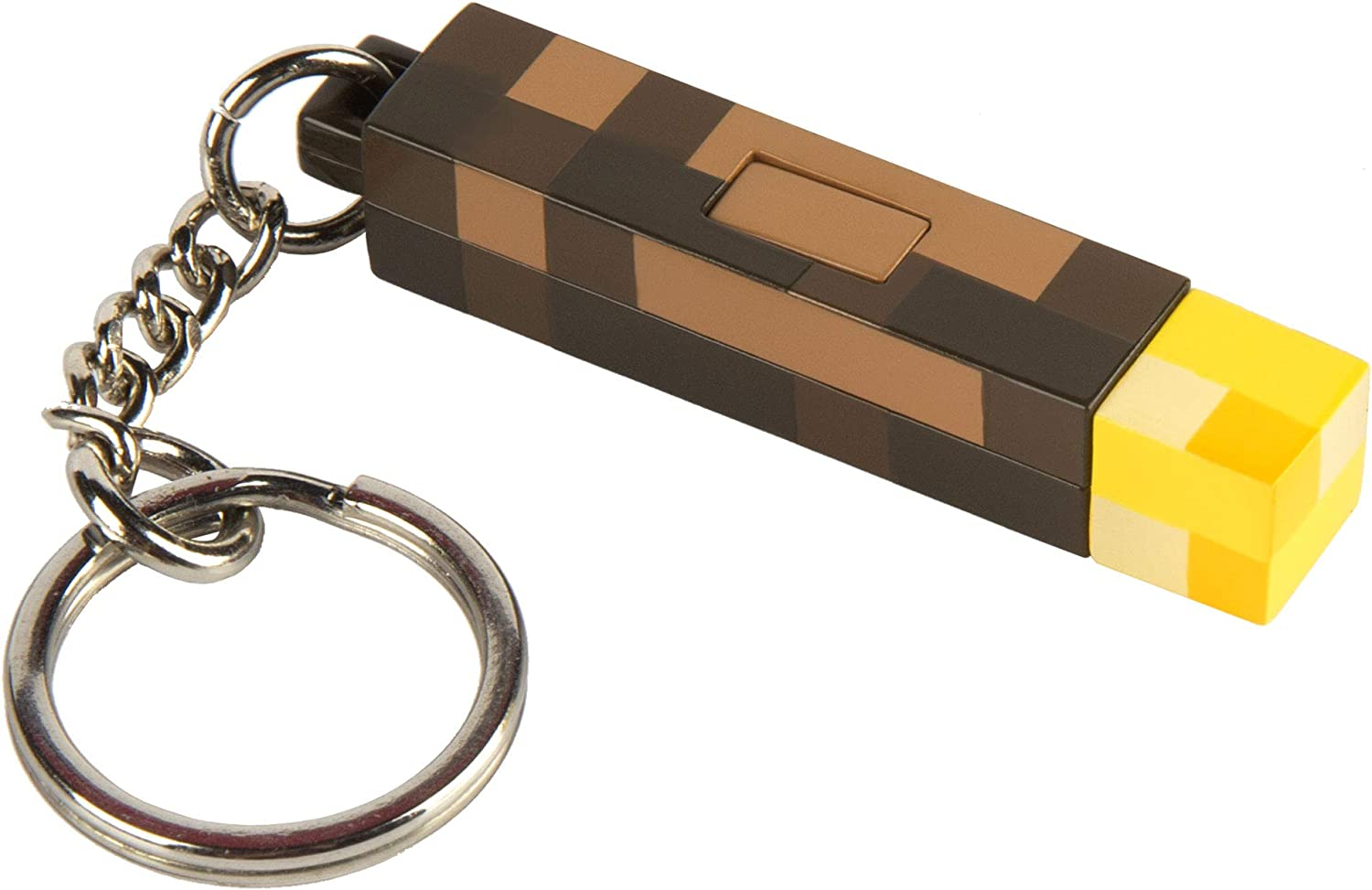 JINX Minecraft 11D Light-Up Torch Key Chain, 11 inches long