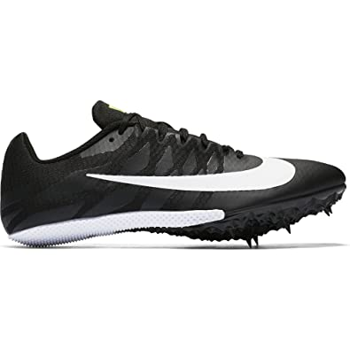 NIKE Zoom Rival S 9 Track Spike Black/White/Volt Size 10.5 M US