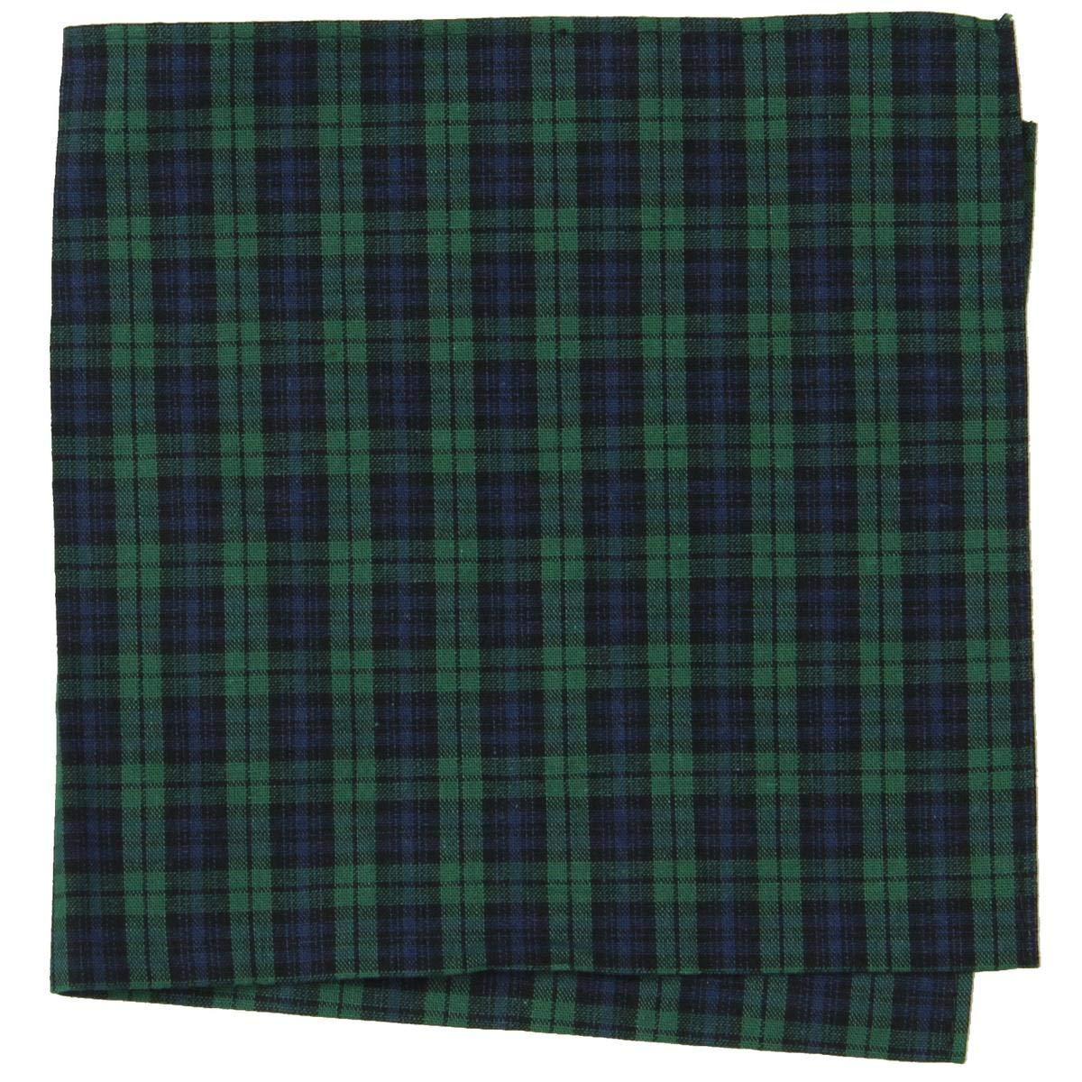 Tommy Hilfiger Mens Tartan Plaid Everyday Pocket Square Green O/S