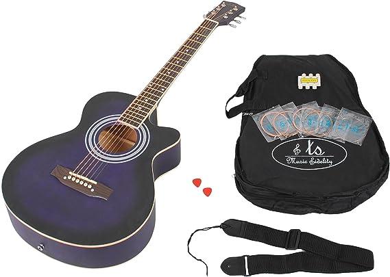 4/4 Guitarra acústica WESTERN Guitarra en lila con diapasón de ...