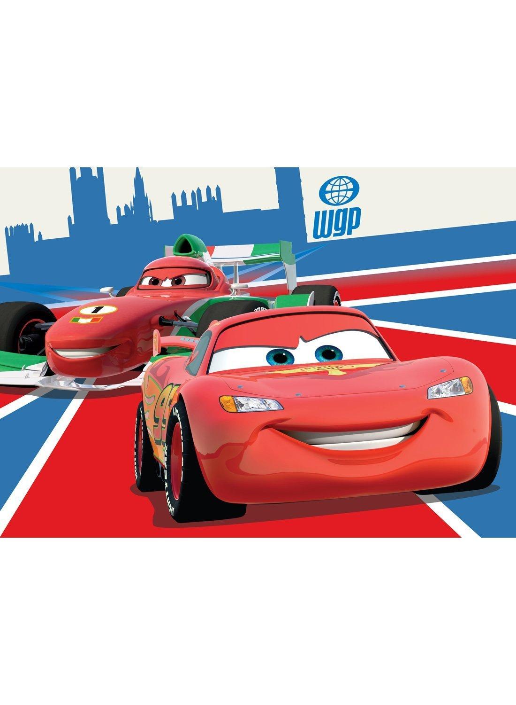 Disney Cars Saetta McQueen e Francesco Bernoulli bambini tappeto tappeto bambini tappeto gioco tappeto non può mancare in cameretta assenza di 95x 133cm Bavaria Home Style Collection