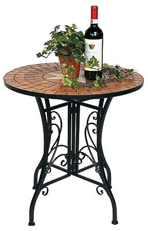 DanDiBo Table Mosaic Merano 12001 Garden table D-60 cm Metal Side ...