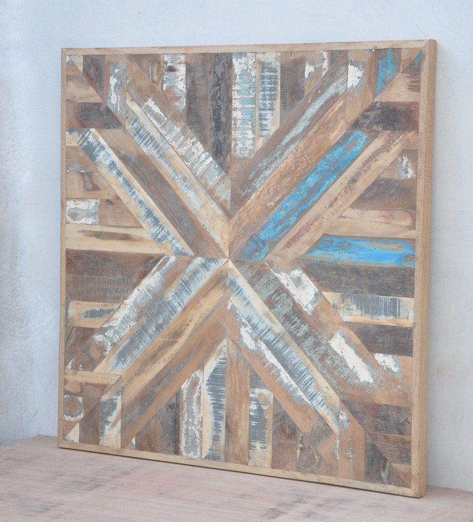 Antique Rustic 30x30 Reclaimed BARN Wood Table Top Multi Color Shabby Chic Modern Furniture