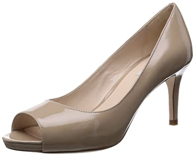 Womens Shoes Cole Haan Bethany Open Toe Pump Maple Sugar Patent
