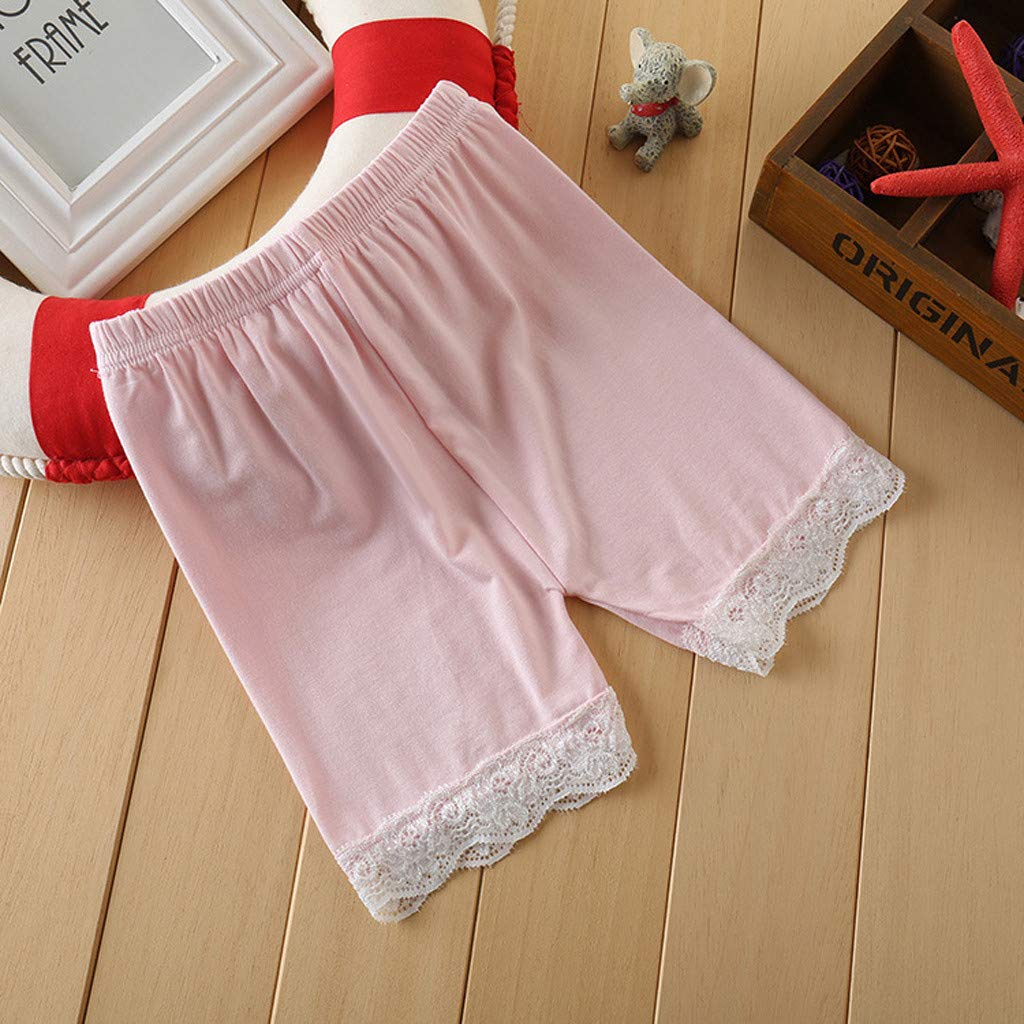 iZHH Fashion Toddler Children Kid Baby Girls Solid Lace Safety Pants Shorts Underwear Clothes
