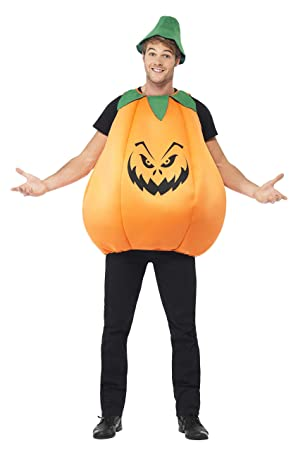 155a9a22f14 Smiffys Adult men's Pumpkin Costume, Tabard and Hat, Halloween, One Size,  40067