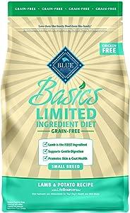 Blue Buffalo Basics Limited Ingredient Diet, Grain Free Natural Adult Small Breed Dry Dog Food, Lamb & Potato 4-lb