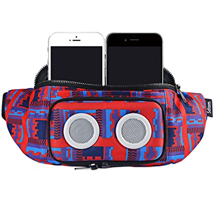 new arrival 13297 f3d1b Outdoors Fanny Pack Running Waist Bag with 2 Stereo Wireless ...