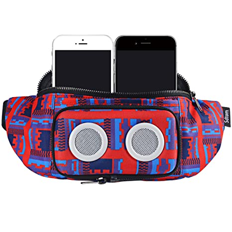 1eb4202ebfcc Fanny Pack with Bluetooth Speaker, Durable Bluetooth Speaker Fannypack with  8W Louder Sound, 10H Playtime Waist Bag for Parties, Beach, Festival Works  ...