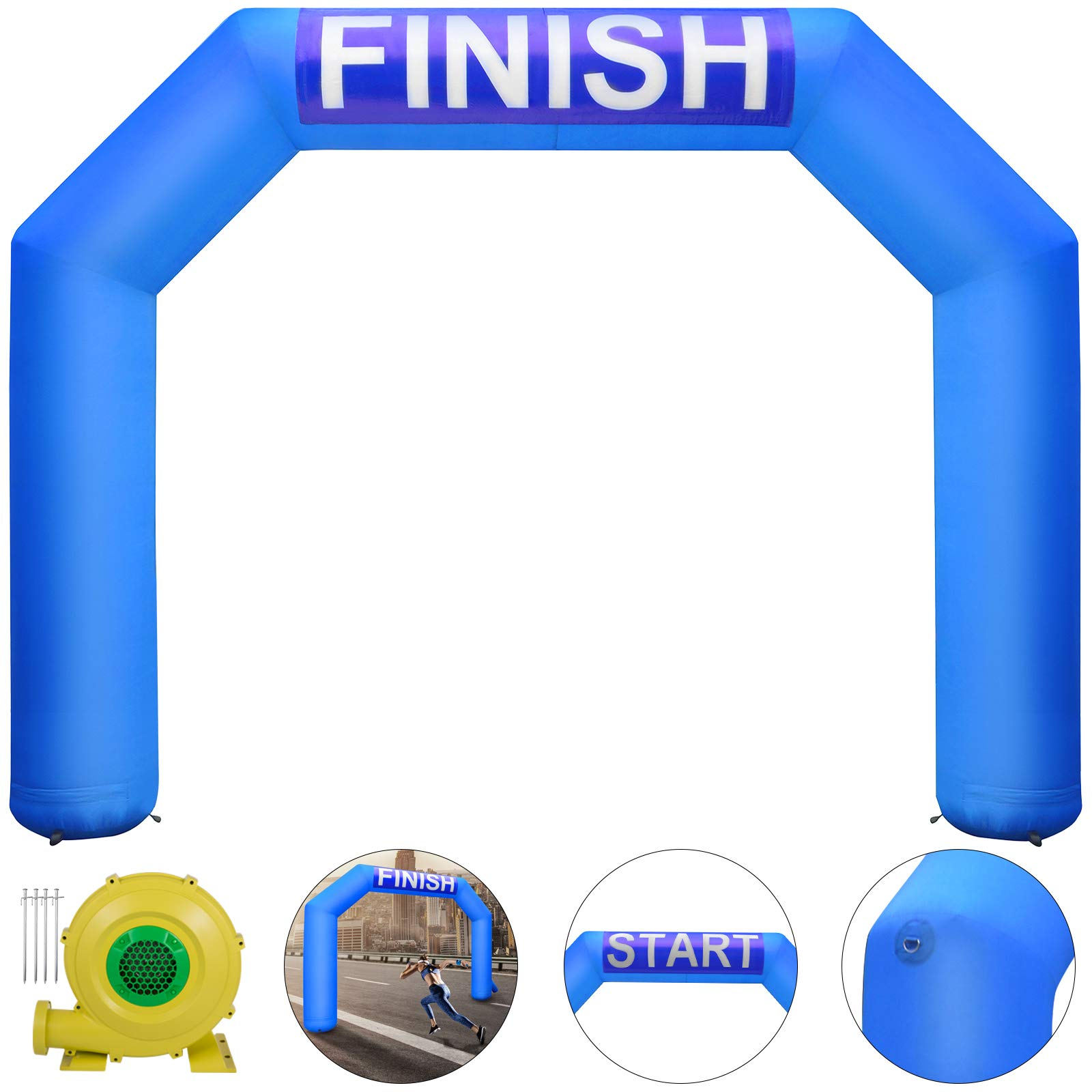 Happybuy Inflatable Arch Blue 15ft Hexagon Inflatable Arch with Blower Inflatable Archway for Race Outdoor Advertising Commerce