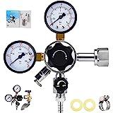 MRbrew Keg Regulator CO2, Kegerator Regulator CGA-320, 0-60 PSI Working Pressure, 0-3000 PSI Tank Pressure, Beer…