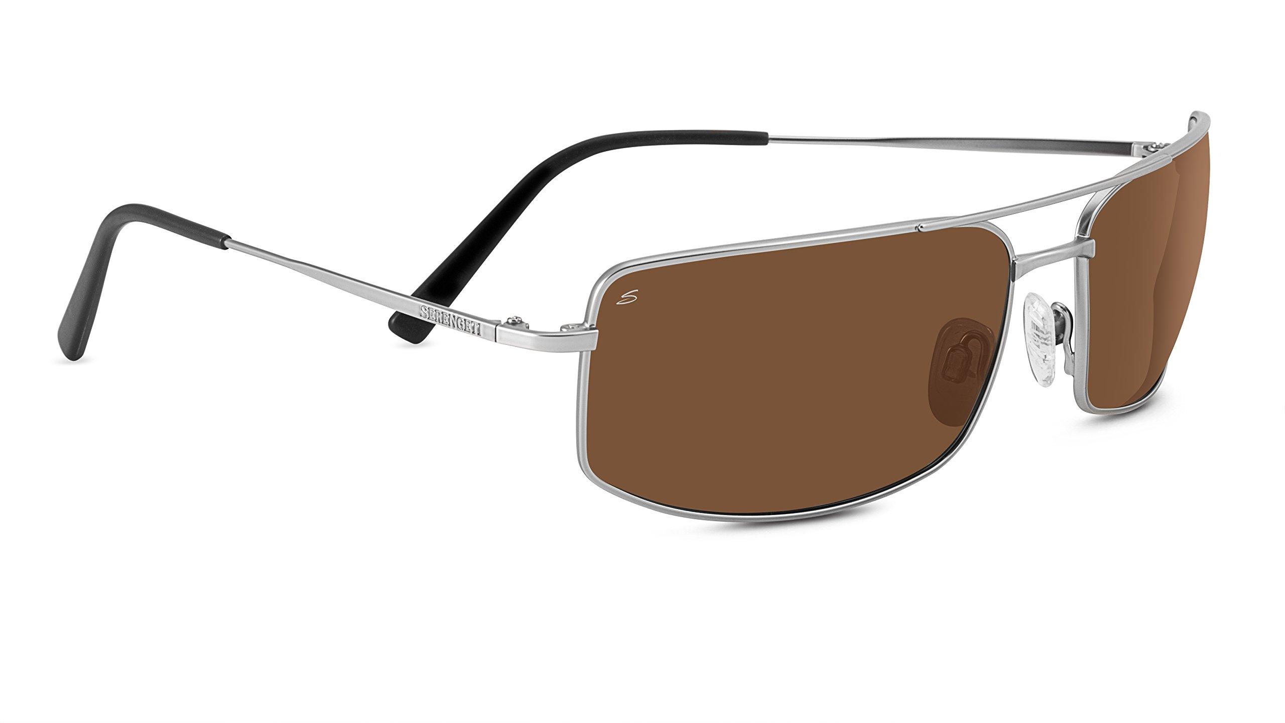 Serengeti 8438 Treviso Drivers Sunglasses, Satin Titanium by Serengeti