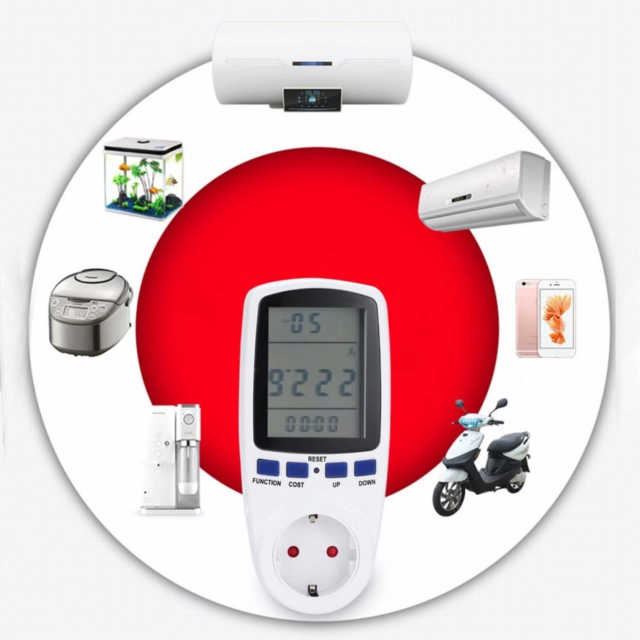 Tree-on-Life 230V 50Hz 16A EU-Stecker LCD-Display Energiez/ähler Watt Volt Spannung Power Analyzer Automatische Strom/überwachung Analyzer Power