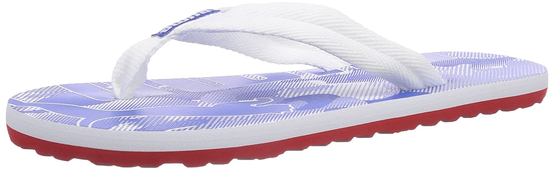 Puma Epic Flip Camo, Unisex-Erwachsene Zehentrenner, Weiß (white-high risk red 01), 42 EU (8 Erwachsene UK)