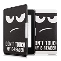 kwmobile Funda para Amazon Kindle Paperwhite - Carcasa para e-Reader de [Cuero sintético] - Case con diseño Don't Touch my E-Reader