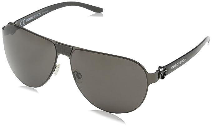 Momo Design Herren Sonnenbrille Smd002V, Silber (Shiny Black), Einheitsgröße