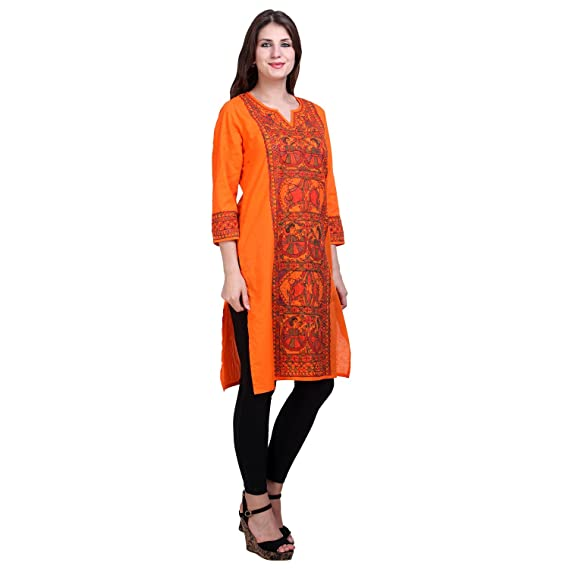 c573a1adb313 iMithila Women Cotton Printed Straight Kurti Women 92s Clothing for Latest Designer  Wear Beautiful Collection