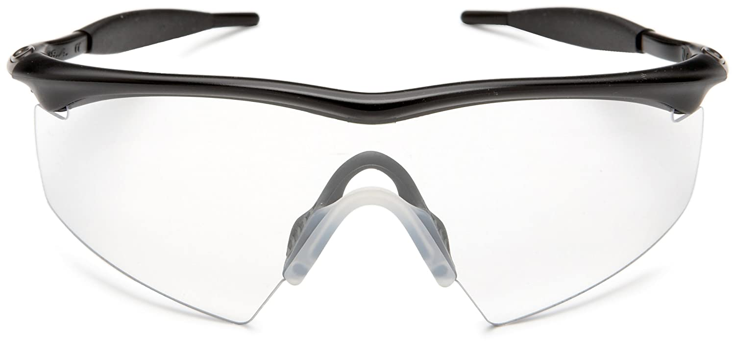 43f12aee5eb Amazon.com  Oakley Mens Industrial M Frame Sport Designer Sunglasses - Black Clear One  Size Fits All  Clothing