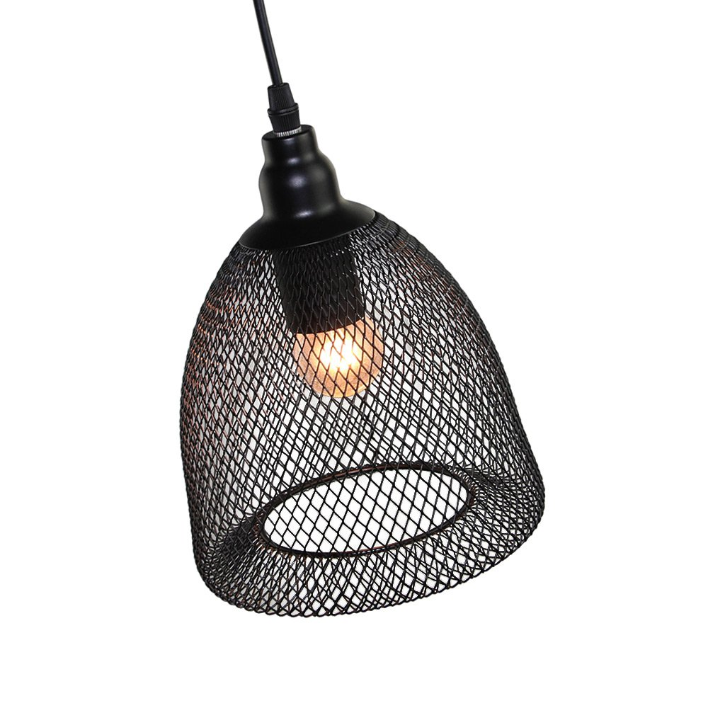 LNC Wire Mesh Ceiling Light Pendant Lighting Use E26 Bulb Pendant ...