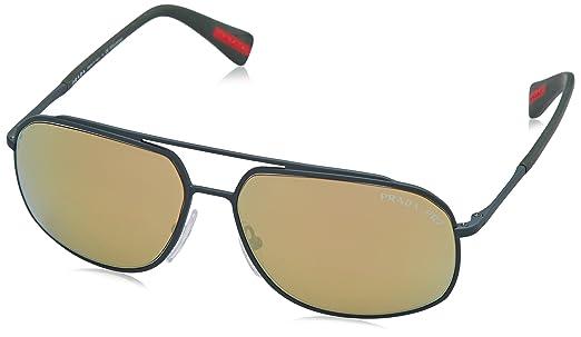 edbf7c8519100 ... best prada ps56rs sunglasses ufi5n2 60 green rubber frame dk brown mirror  gold polar d86cf 74951