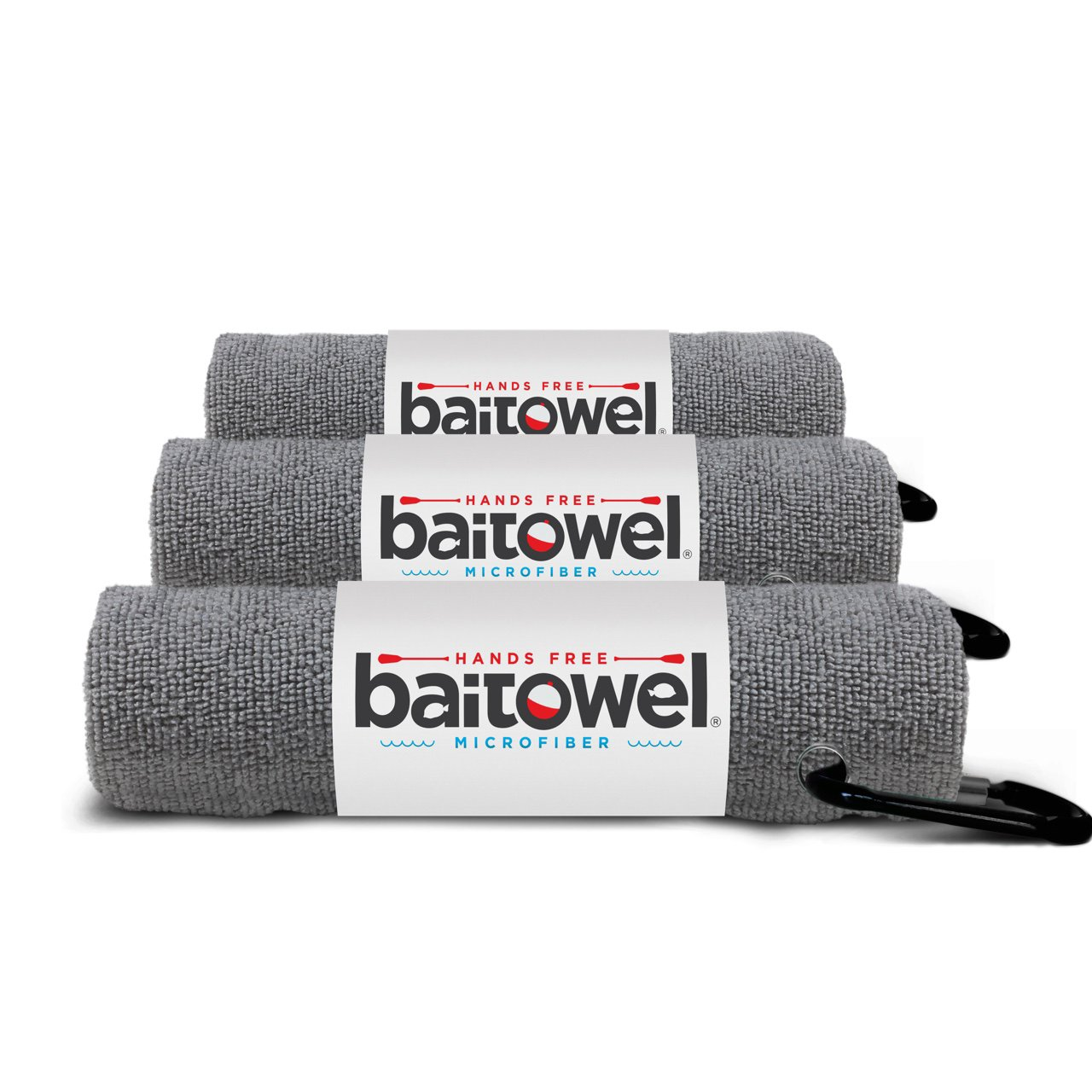 Microfiber Bait Towel (Overcast Gray) 3 Pack by Bait Towel