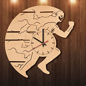 Amazon.com: The Flash Superhero Eco Friendly Wood Wall Clock - Get ...