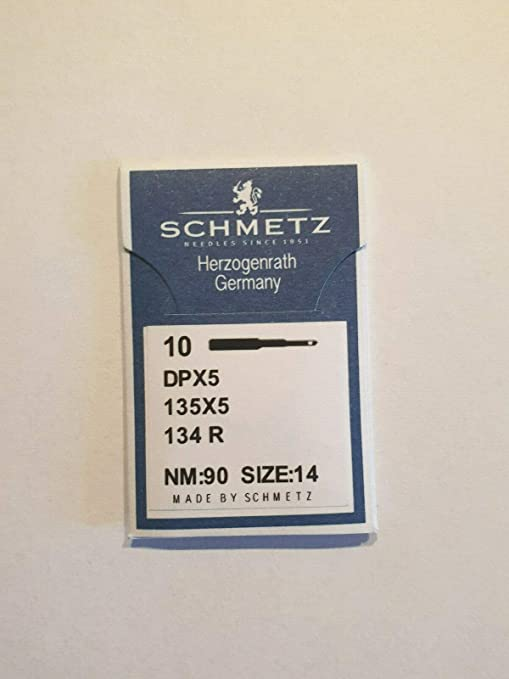 Agujas para máquina de Coser Schmetz (100 Unidades, NM: 90 ...