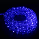 Ainfox LED Rope Light, 50Ft 540 LEDs LED Strip Lights Indoor Outdoor Waterproof Decorative Lighting Kit (Blue)