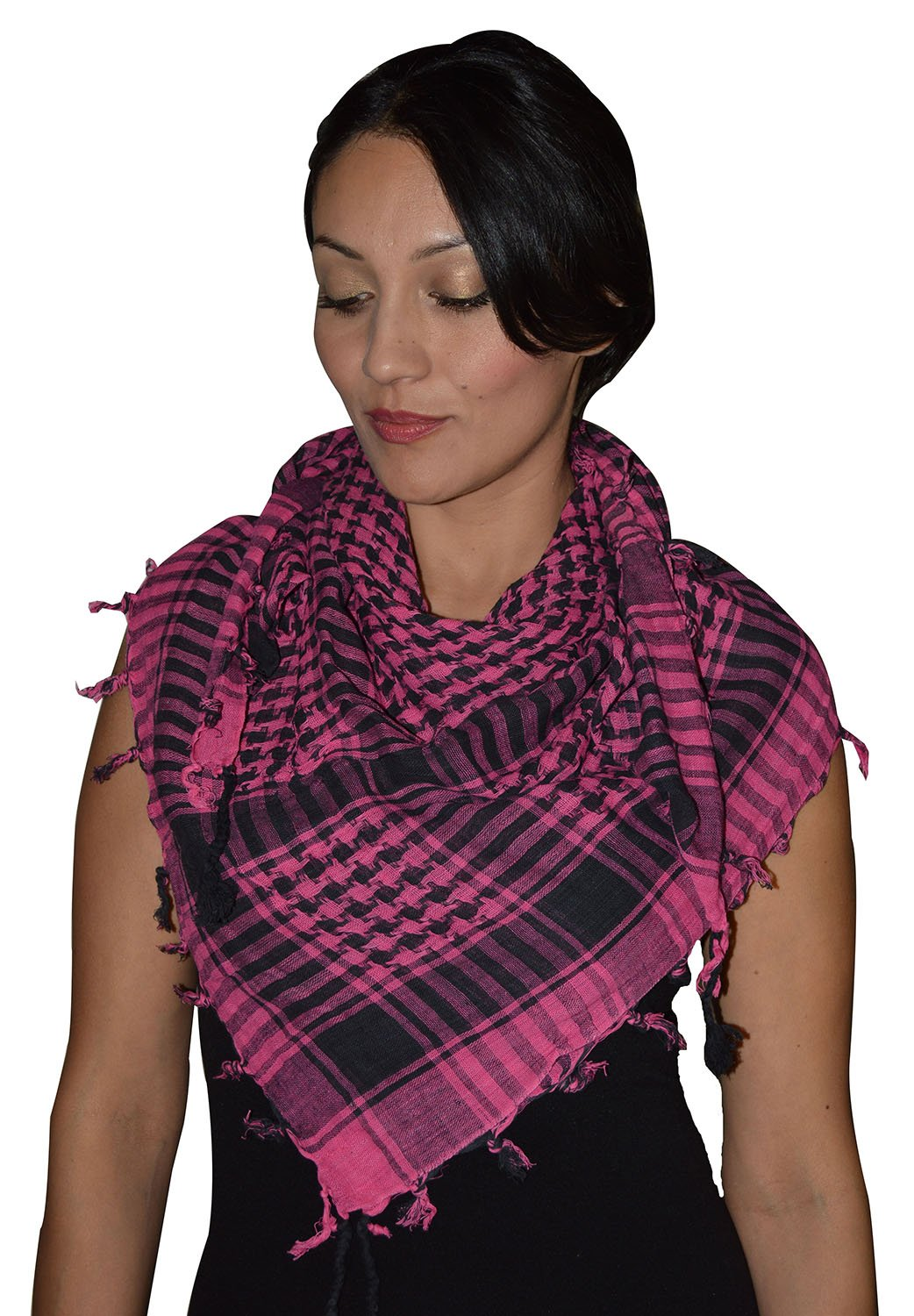 Shemagh Scarf Shawl Arab Fashion Scarf Purple Freedom Head Cover Magenta