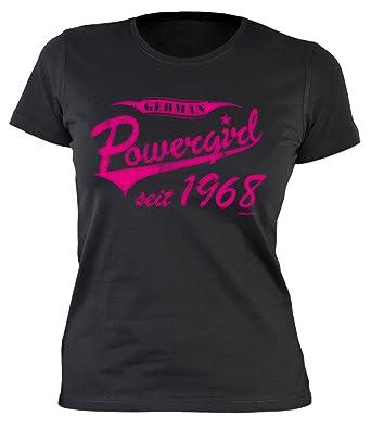 Damen T-Shirt 50 Geburtstag Frauen - Geburtstagshirt Frau 50 Jahre -  Jahrgang 1968 :