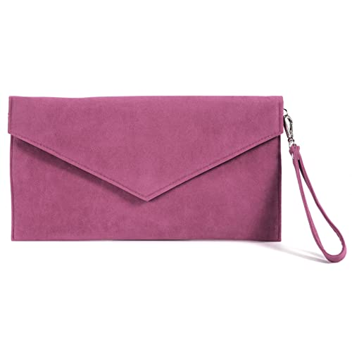 Anladia Large Faux Suede Envelope Clutch W/ Wrist Strap Women Hand Carry Daily Purse Chain Strap: Handbags: Amazon.com