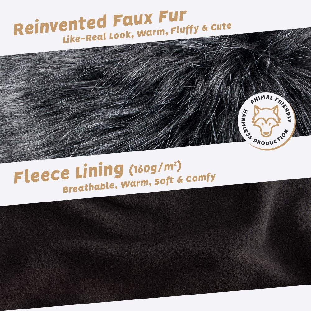 Futrzane Stirnband Faux Fuchs Pelz Damen Stirnb/änder Winter Ski