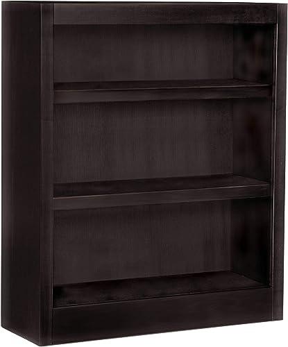 Midas Three Shelf Bookcase 36″H Espresso Finish