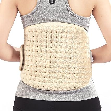 Yuwell Cinturón de calefacción eléctrica con almohadilla de calor ajustable en la cintura, lumbar en