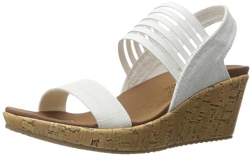 7a8aae37bf77 Skechers Cali Women s Beverlee Smitten Kitten Wedge Sandal