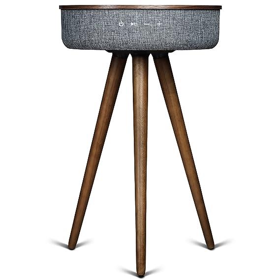 Sierra Modern Home Studio Smart Table With Built In 360° Bluetooth Speaker  U0026 Wireless Qi