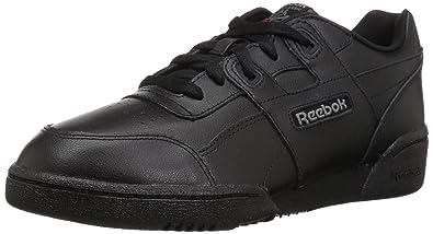 09bf3eed369 Reebok Unisex Workout Plus Sneaker Black Charcoal Primal red 3.5 M US Big  Kid