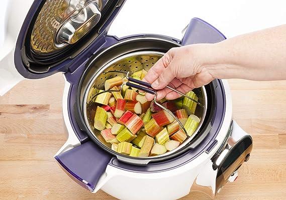 Moulinex Cookeo CE851A Robot de cocina + 150 recetas, olla eléctrica programable, 6 L capacidad, 6 modos cocción, pantalla LCD, apta para lavavajillas, cestillo de vapor, Bol Extraíble Antiadherente: Amazon.es: Hogar