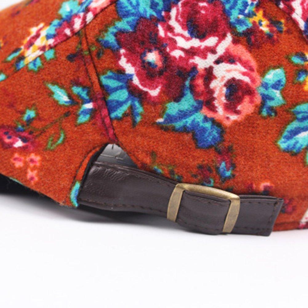 WDOIT Boina Impresa Estilo Bohemio Elegante Estilo Británico Para Mujer  Boina Masculina Casquillo Casual Estilo C  Amazon.es  Hogar 5a54d2faecb
