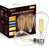 DORESshop ST64 Dimmable LED Edison Bulbs, 8W(60W Equivalent), Warm White 2700K, Eye Protection LED Bulb, ST64 LED Filament Li