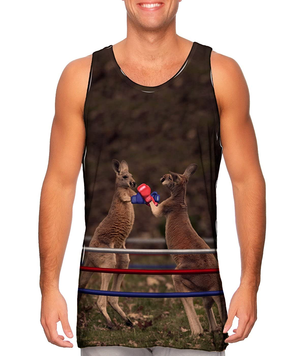 TShirt Mens Tank Top AnimalShirtsUSA Boxing Kangaroo
