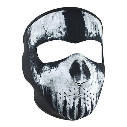 1b578fc0ad7 Amazon.com  Zanheadgear WNFM409 Adult Unisex Neoprene Skull Ghost Full  Mask  Automotive