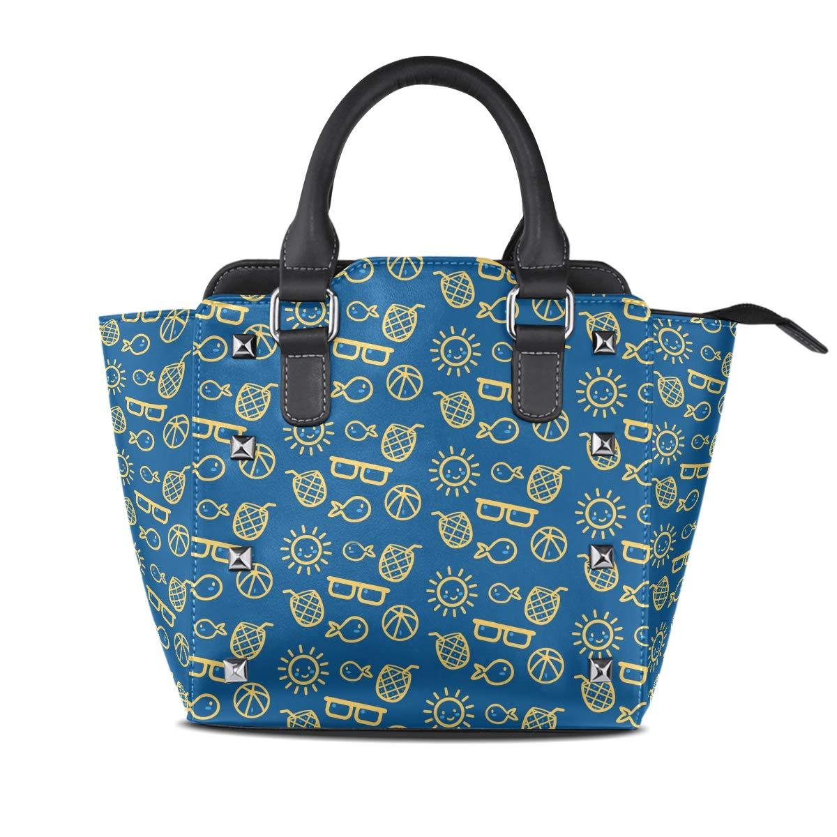 Amazon.com  Cute Summer Elements Leather Handbags Purses Shoulder Tote  Satchel Bags Womens  Shoes 2294e3050c