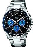 Casio Homme Montre bracelet à quartz analogique en acier inoxydable de MTP 1374d 2A