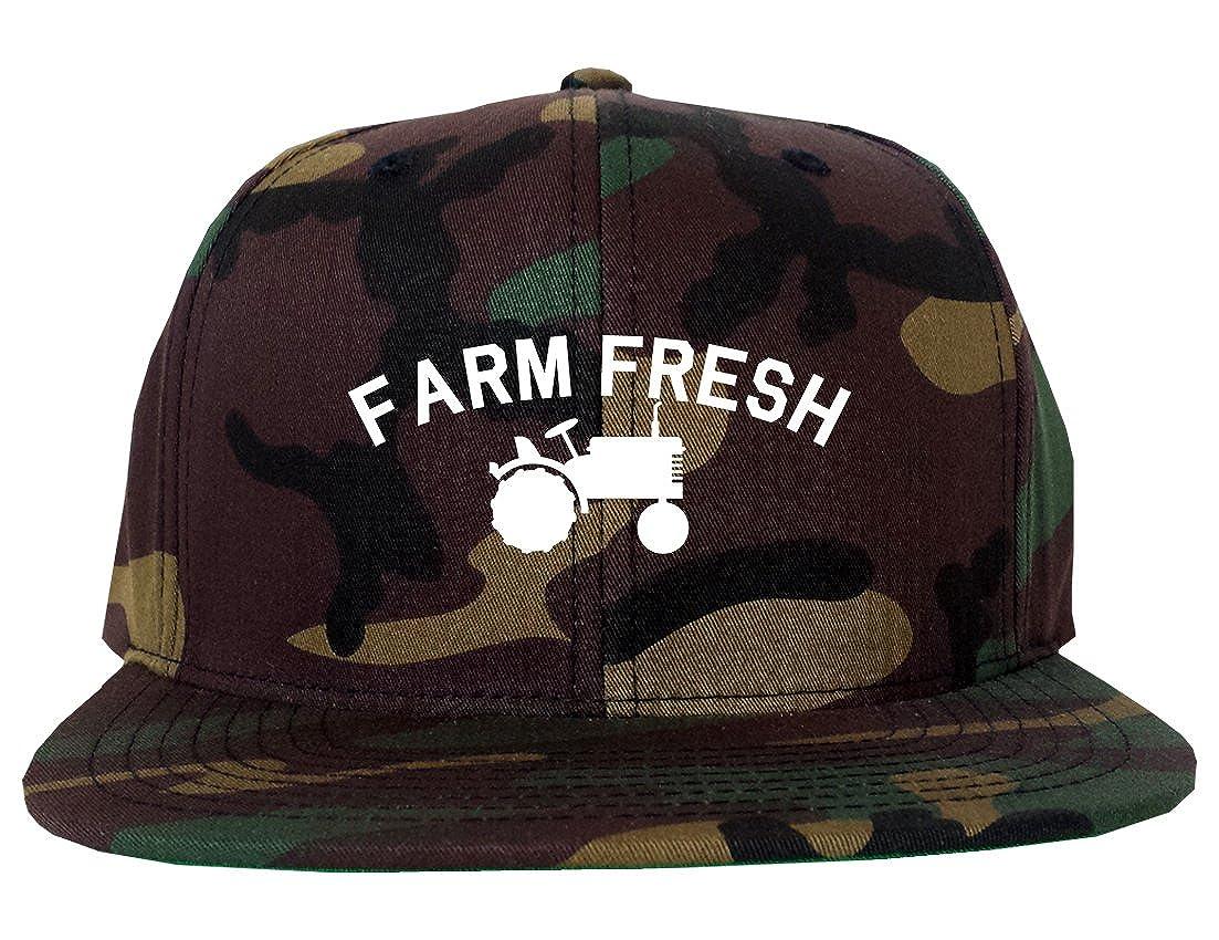 446f2da4550 Farm Fresh Tractor Mens Snapback Hat Cap Black at Amazon Men s Clothing  store